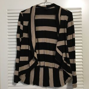 Forever 21 Black & Tan Light Cardigan Size Medium